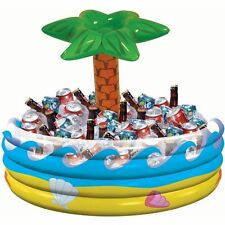 Palm Tree Inflatable Ice Cooler Party Pool Beer 72 Drink Holder Tub Bar Novelty