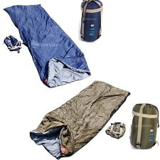 Ultra-light Camping Hiking Military Envelope Sleeping Bag+Compression Stuff Sack