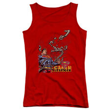 Superman Breaking Chains Juniors Tank Top Shirt