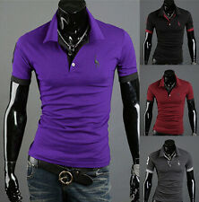 Slim Fit Fashion T-shirt Tops Tee POLO Shirt Short Sleeve Casual Style New Mens