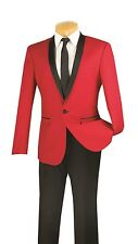 Men's Formal Tuxedo Prom Wedding Groom Suit SLIM FIT One Button 2-Tone T-SS