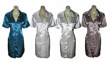 Ladies Satin Nightshirt Nighty Nightdress Slip Size 10 12 14 NEW