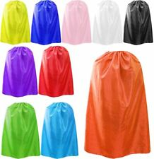 ADULTS SATIN CAPE HALLOWEEN FANCY DRESS COSTUME VAMPIRE WITCH SUPER HERO UNISEX