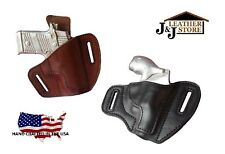 J&J SPRINGFIELD XD SUBCOMPACT OWB PANCAKE BELT CARRY FORMED LEATHER HOLSTER