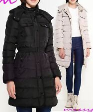 NEW PADDED Womens HOOD PUFFA COAT Ladies Jacket Size 8 10 12 14 16 Parka Black P