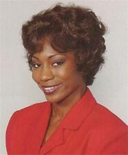 Brown Short Soft Curls w/ Wavy Bangs Wig Hairdo - Carol