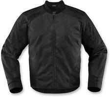 Icon Overlord Mens Textile Motorcycle Riding Jacket Black