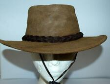 JACARU bnwt Australian UNISEX NOMAD Nubuck Suede Leather MILITARY 1124 BUSH HAT