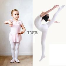 New Children Girls High Elastic Stockings Dance Footed Tights Pantyhose TXCL