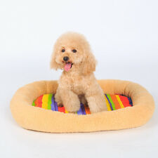 Pet Cat Dog Nest Bed Puppy Soft Warm Cave Winter Sleeping Mat Pad Cushion Bunny