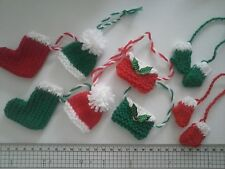 Christmas Tree Decorations, Jumper, Hats, Pud, Cupcake, Mittens, Stockings, Bags