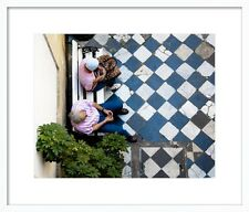 'Checkered Floor in Buenos Aires' by Sivan Askayo Framed Photographic Print