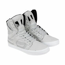 Supra Skytop II Mens Grey Textile High Top Lace Up Sneakers Shoes