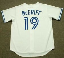 FRED McGRIFF Toronto Blue Jays 1990 Majestic Cooperstown Home Baseball Jersey