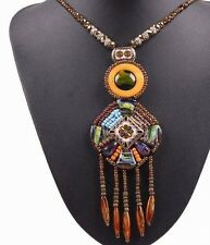 Necklace Vintage Long Chain Bead Tassel Style Pendant Fashion Jewelry For Women