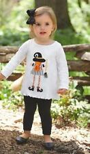 Mud Pie Girls Halloween Tunic Top Witch Fall Applique Keyhole Back 1152041 New