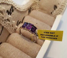 Zambian Amethyst and Diamond Ring in Platinum over Sterling Silver