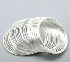 Wholesale HOT!  Silver Plated Memory Beading Wire for Bracelet 50mm-55mm