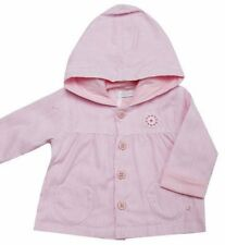 Baby Girls Spring Summer Pretty Pink Striped Lined  Cotton Jacket by Zip Zap