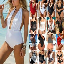 Brazilian One Piece Swimsuit Bikini Monokini Push Up Padded Swimwear Bathing FO