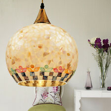 Retro Mother of Pearl Single Light Hanging Ceiling Pendant Lights Mediter Style