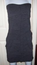 New Volcom geometric black gray geometric dress beach bikini coverup sz XL 12 13