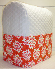 Quilted Orange Floral Starburst Kitchenaid 7 & 8qt Lift Bowl Stand Mixer Cover