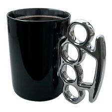 Thabto Knuckle Duster Mug Black and Silver
