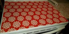 Orange Floral Starburst Glass Stove top / Cook top Cover & Protector
