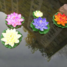 Artificial Fake Lotus Water lily Floating Flower Garden Pool Pond Ornament Decor