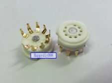 9-pin Vacuum Tube Gold plated ceramics Sockets for 12AX7/12AU7/12AY7 GZC9-Y-G