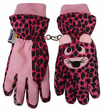 NICE CAPS Girls Thinsulate and Waterproof Cute Tiger Face Gloves
