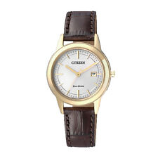 Citizen Analog Business Ladies ECO-DRIVE  Brown JAPAN Watch FE1083-02A