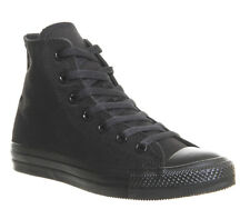 Mens Converse All Star Hi BLACK MONO CANVAS Trainers Shoes