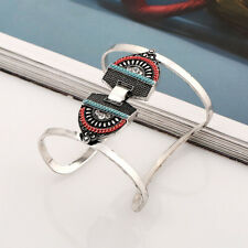 Fashion Adjustable Open Wide Turquoise Cuff Bangle Bracelet Punk Ethnic Jewelry