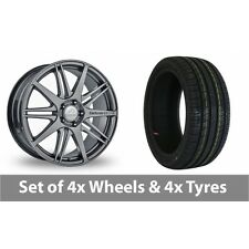 """4 x 19"""" Team Dynamics C1 10 Graphite Alloy Wheel Rims and Tyres -  235/40/19"""