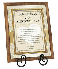 Personalized Anniversary Love Poem Walnut Plaque For Wife Husband Girlfriend
