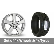 """4 x 15"""" Dezent TX Silver Alloy Wheel Rims and Tyres -  235/75/15"""