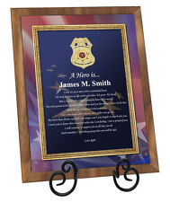 Law Enforcement Police Officer Sheriff Deputy Gift Poetry Plaque Love Policeman