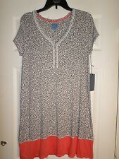 sIMPLY vERA wANG Animal Print Nightgown Soft Jersey Size Small Women's  L@@K!