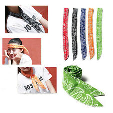 Summer Hot Neck Cooler Scarf Body Ice Cool Cooling Wrap Necktie Sport Headband