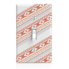 Aztec Stripe Wall Plate Rocker Toggle Outlet Decor Switch Plate Cover