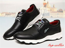 Size Stylish Mens Boys Casual Sports Zipped Sneakers British Lace Up Flats Shoes