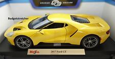 NEW MAISTO 1:18 Special Edition - 2017 model Ford GT in Yellow VERY RARE