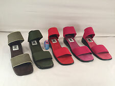 New Womens San Miguel open toe ankle strap Red/Green/Brown/Pink/Purple US 6 9 10