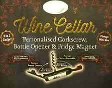 Bottle Opener/Corkscrew ~ NAMES (D) ~ corkscrew/bottle opener & Fridge Magnet