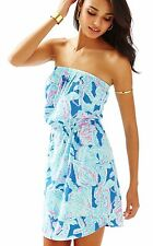 Lilly Pulitzer, Windsor Strapless Cotton Knit Dress, Into The Deep, M, L,XL, NWT