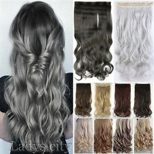 New 100% Real Natural Hair Extensions Clip in on Hair Etensions Full Head T55