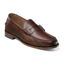 Florsheim Mens Shoes Berkley Brown CH  Leather beef roll penny loafer 17058-215