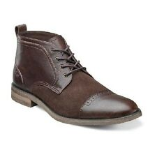 New Stacy Adams Beckett mens boots Brown Cap toe chukka Leather Suede 24984-200